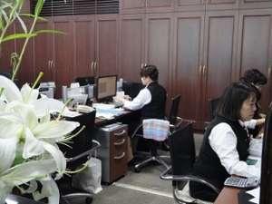 広くてゆったりとした事務所です。